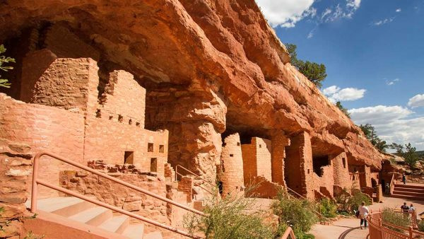 Manitou Cliff Dwellings Blue Sky