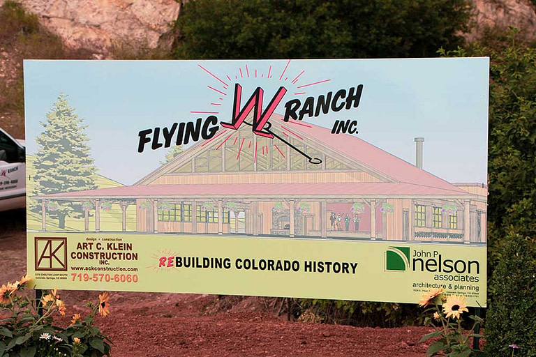 flying w ranch sign