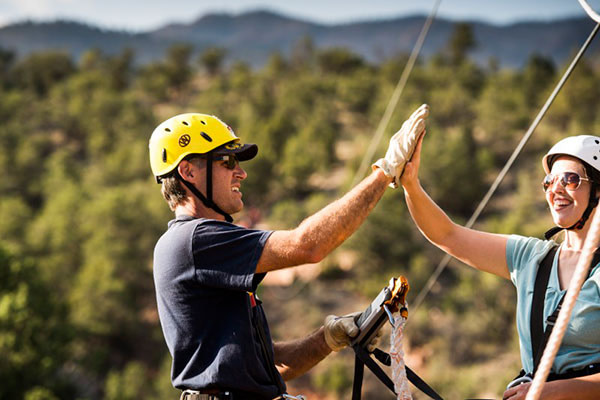 zipline high five adventures out west