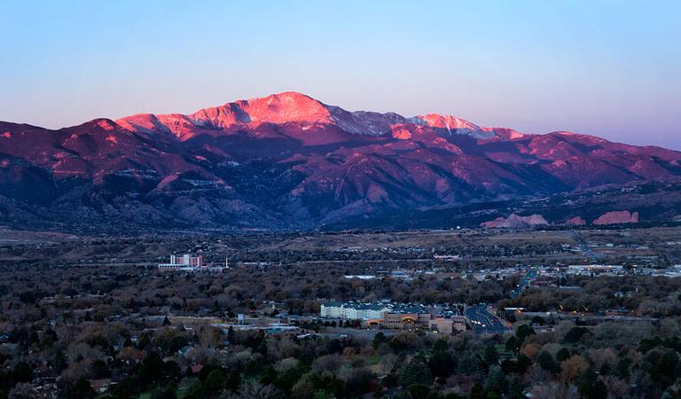 pikes peak purple sunrise