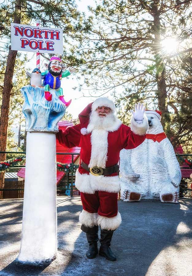 North Pole Santa Waving