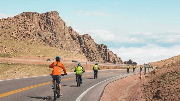 challenge unlimited pikes peak by bike going down the mountain