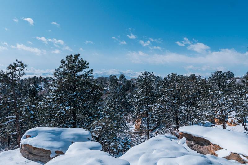 Snowy Pikes Peak