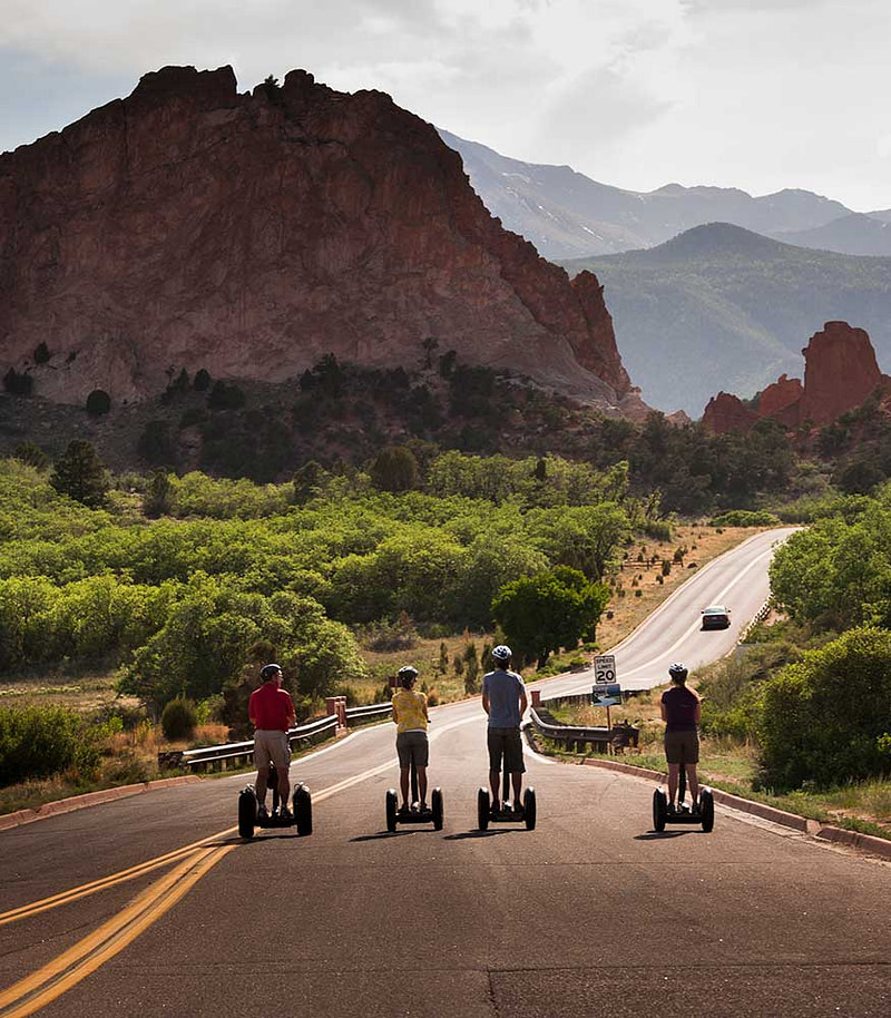 adventures out west segway tour in garden of the gods park
