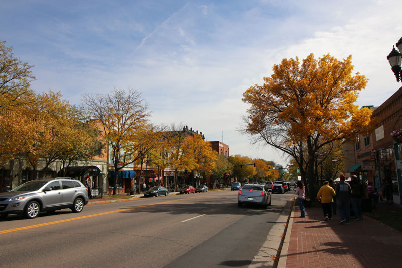 old colorado city in the fall