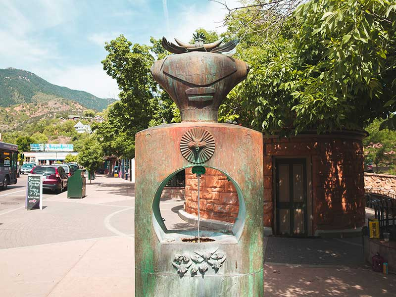 Manitou Springs mineral water fountain