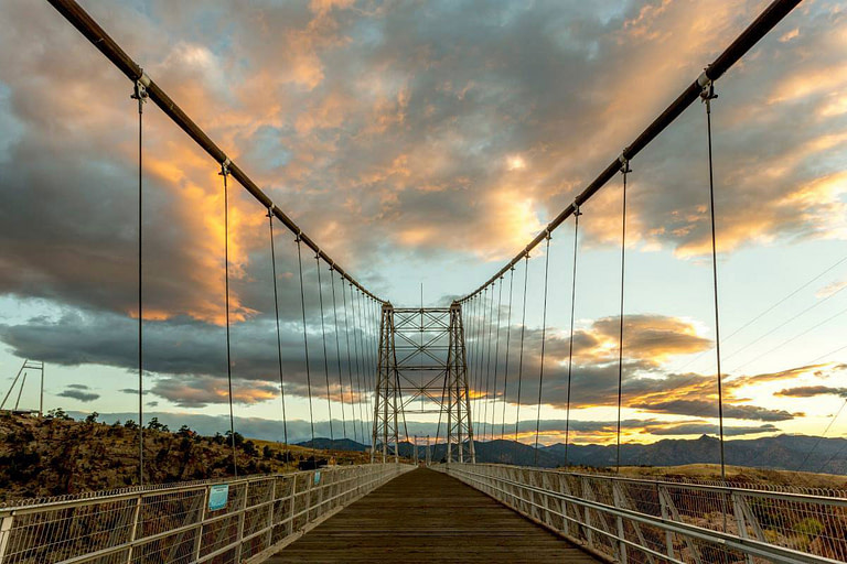 royal gorge bridge colorado sky