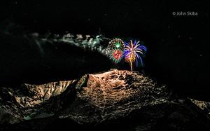 Fireworks off Pikes Peak by John Skiba