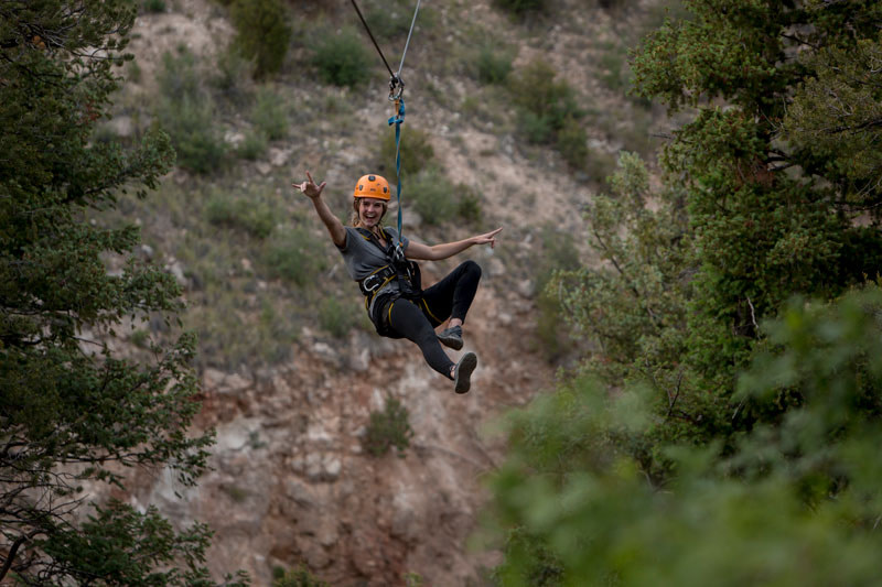 adventures out west zip line girl