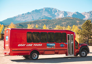 pikes peak tour by gray line side view