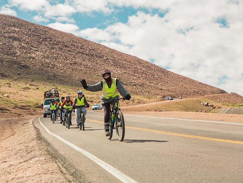 challenge unlimited pikes peak by bike biker wave
