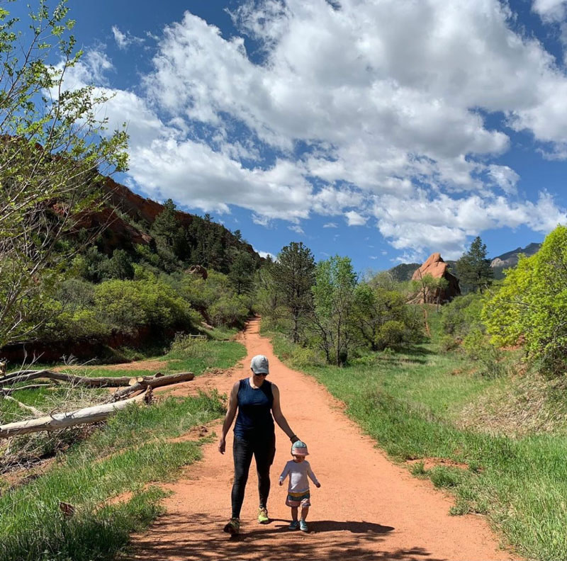 red rock open space family
