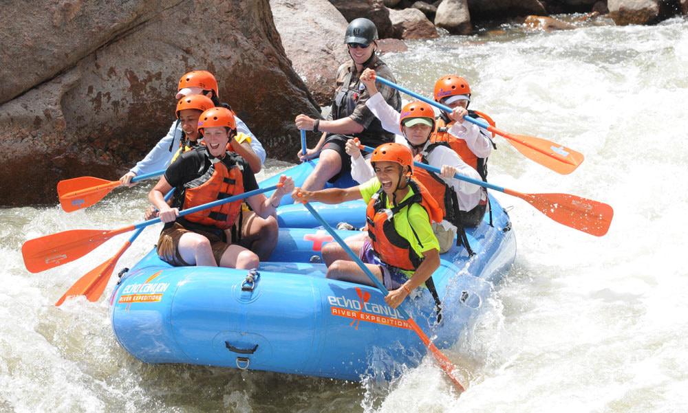 echo canyon rafting big smiles
