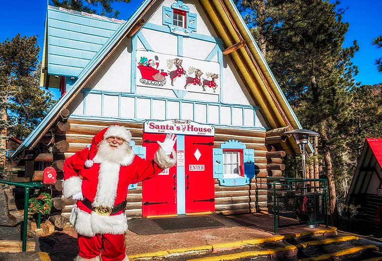 Santa at the North Pole in Colorado
