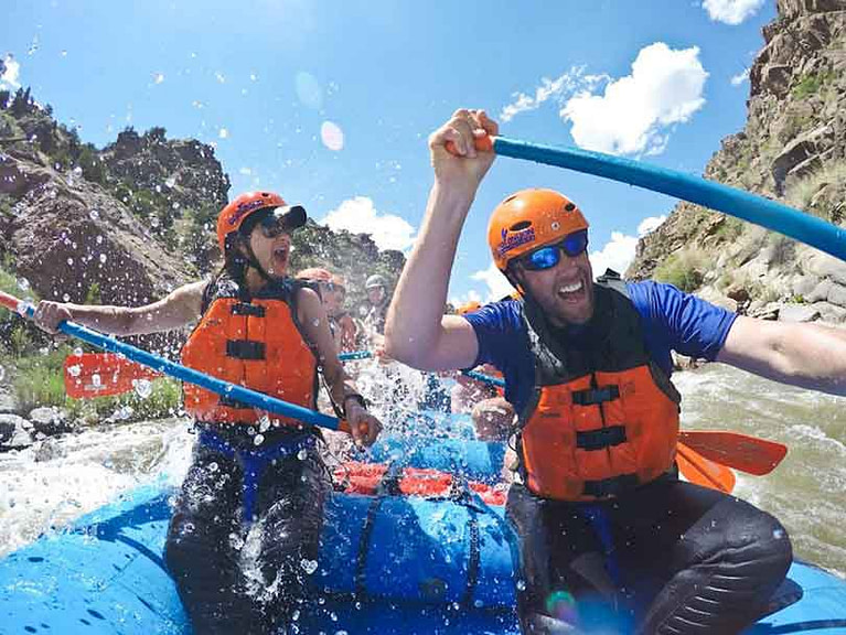 thrill seeker rafting with echo canyon