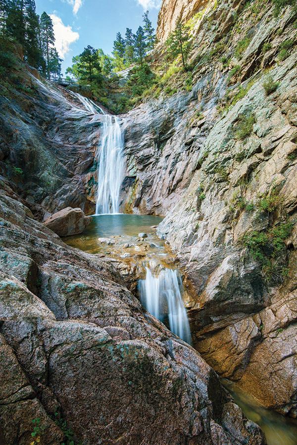 Broadmoor Seven Falls waterfall