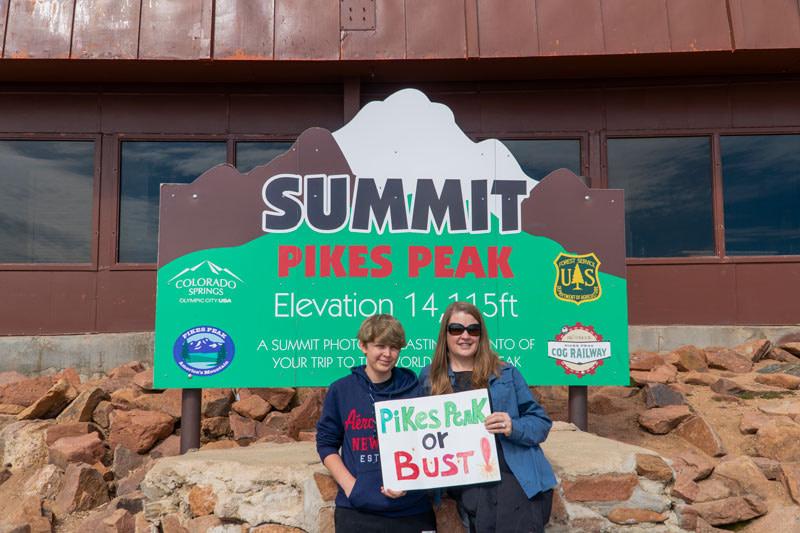 pikes peak mountain family