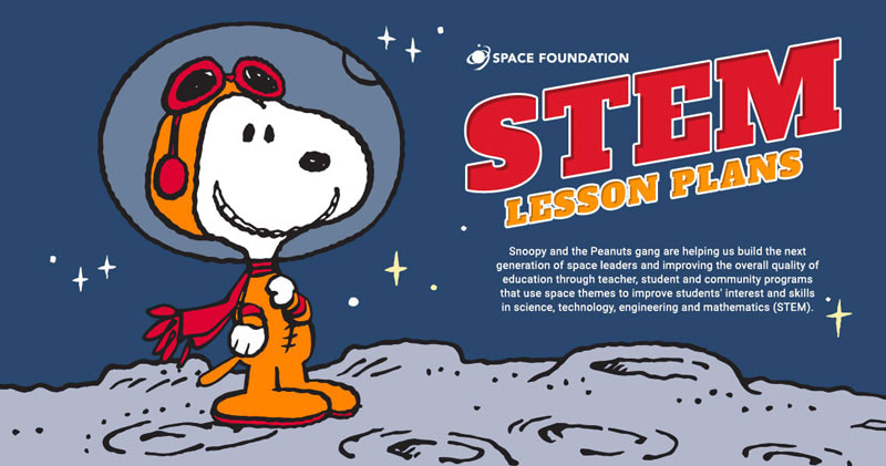 space foundation snoopy graphic