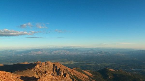 Hiking Pikes Peak to the summit.