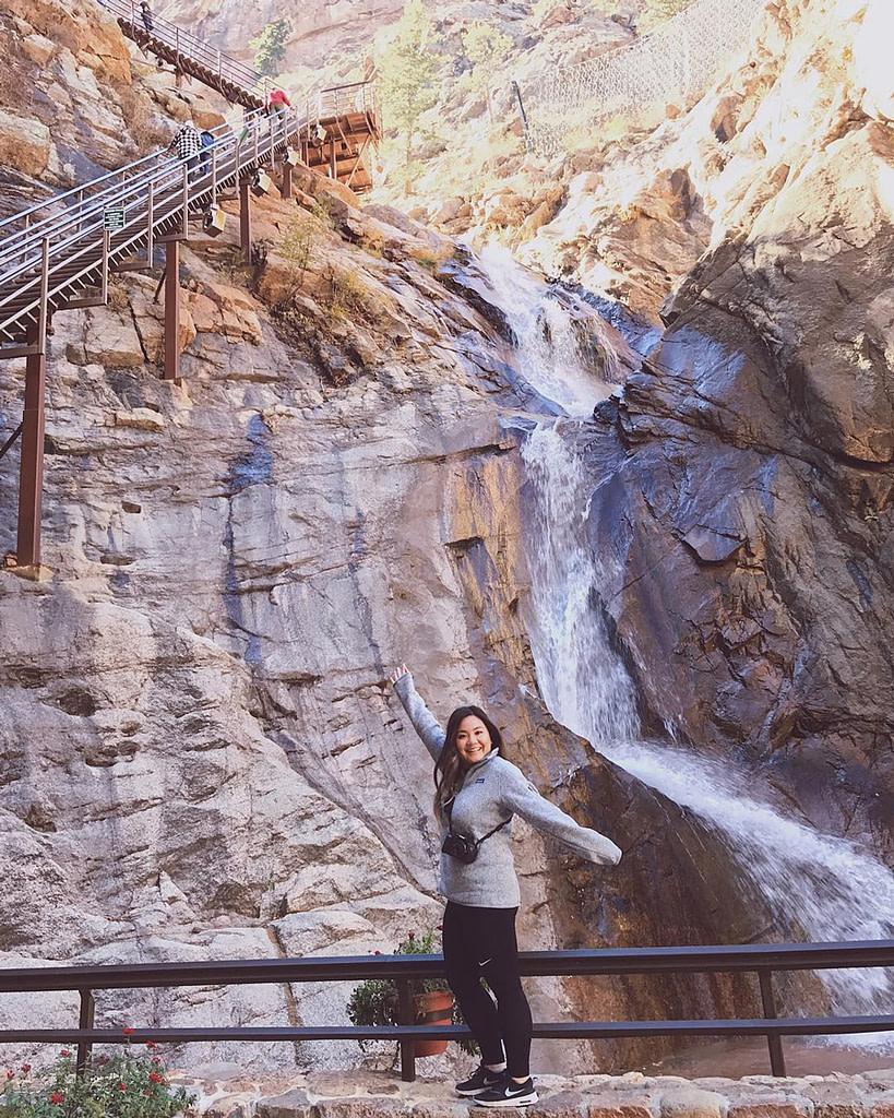 Seven falls waterfall base