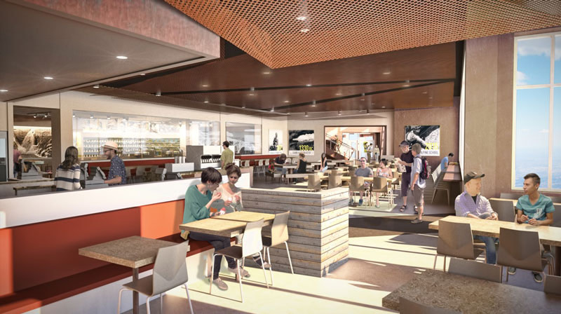 summit house rendering cafe
