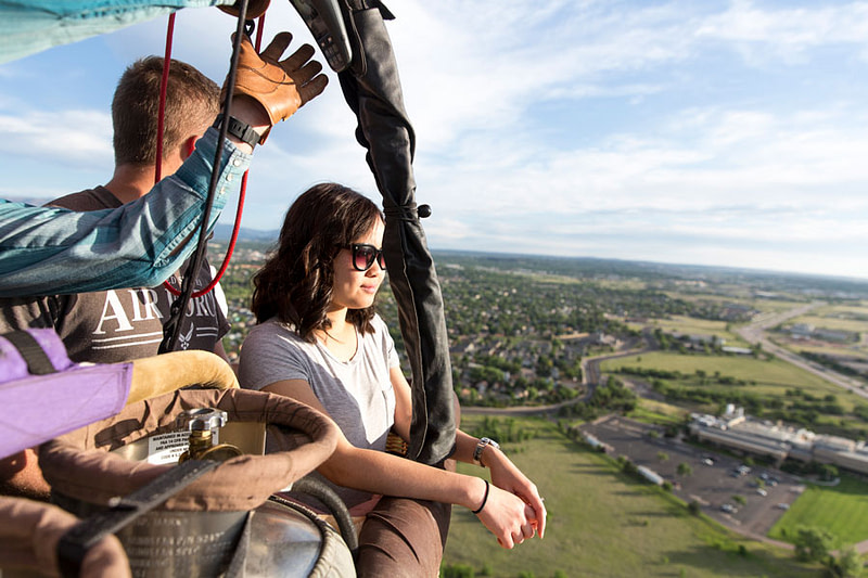 adventures out west hot air balloon from above