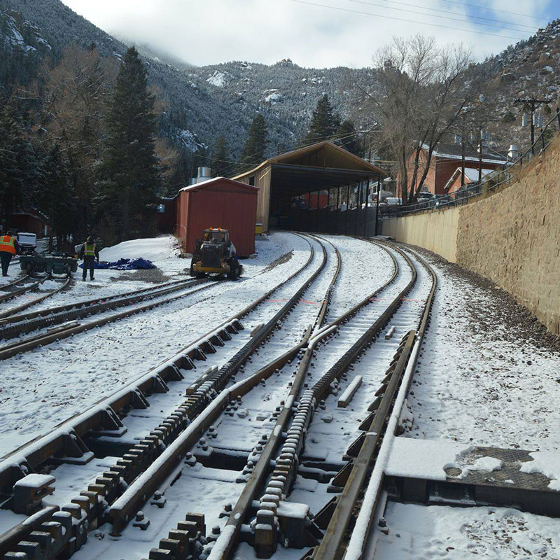 new tracks on cog railway